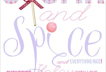Sugar and Spice Baby Shower / sugar and spice baby shower theme, what little girls are made of. Super girly and very very sweet! sugar and spice invites, sugar and spice shower invitations