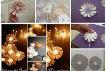 világitó virágok