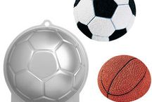Soccer Ball & Basket Ball Cake Designs / This shape cake is made by using our Wilton Soccer Ball/Basket Ball cake tin.