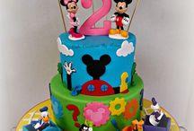 Twins birthday party mickey/minnie