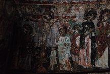 Kilise , Church , Wall painting / Bizans resim sanatı , erken dönem kilise mimari ve duvar resimleri örnekleri