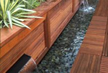 Water features and decks