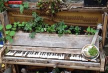 Musical gardens / Using old musical instruments for gardening