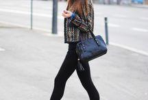 Svarta leggings