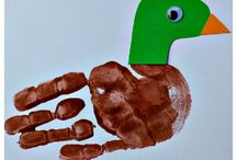 Mallard Duck Handprint Craft For Kids
