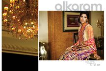 alkaram Royal - Silk collection Spring/Summer 2015 / A breathtaking combination of extravagant bold prints paired with fine detailed embroidery and luxurious silk fabric, this collection is a perfect embodiment of classical femininity.