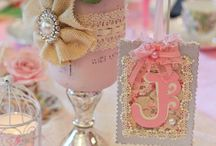Shabby Chic Baby Shower / Perfect for a beautiful high tea baby shower celebration.