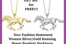 Horses T-Shirts, Necklaces & Bracelets