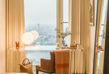 PROJECT - South Bank Tower / For independent real estate firm CIT, Goddard Littlefair was one of the leading design studios selected to create a show apartment for South Bank Tower: a 'Black Edition' duplex, spread over a west-facing corner location on the tower's 36th and 37th floors.  South Bank Tower won gold at the 2016 London Design Awards for best Residential Interior Design.