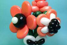 Цветы  Из Воздушных Шаров. /  Букеты. Корзины. Цветы из воздушных шаров.