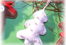 Boże Narodzenie / Zawieszki szyte z filcu nie tylko na choinkę.