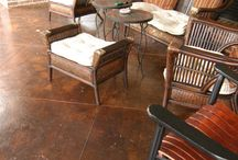 Stone and Concrete floors & patios: Inside and out