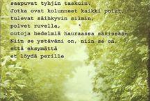 Runo ystävälle