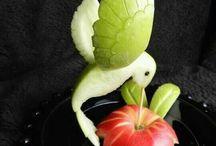 Obst schnitzen