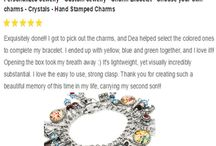 The Reviews are in... / Just some of the over 5,000 positive reviews about my designs, on Etsy and Blackberry Designs Jewelry Website.
