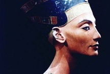 """Neferetti / In the fifth year of his reign, he displaced Egypt's chief god Amon in favor of Aten, moved the capitol north to Amarna and changed his name to Akhenaten, with Nefertiti taking on the additional name """"Neferneferuaten""""—her full name meaning """"Beautiful are the beauties of Aten, a Beautiful Woman has come."""""""