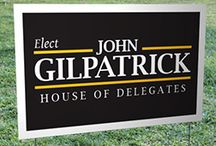 Design Your Own Campaign Yard Signs / We can help you design your own sign with our amazing online design too!  http://www.designatrunandwin.com/