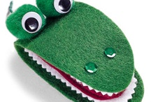 krokodillen knutselen / Knutselideeen bij het prentenboek 'Ik zou wel een kindje lusten'.
