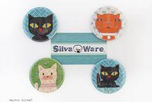 Cat Art & Design / by Silva Ware by Walter Silva
