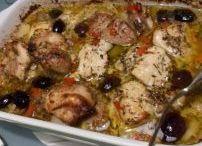 Spaanse kippendijen uit oven