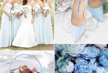 light blue wedding details