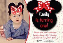 First Birthday Invitations / First Birthday Invitations