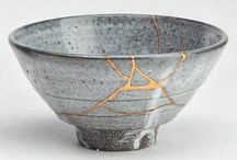 JAPAN-s 2 Vase_Bowls_etc... / kintsugi technique__Japanese Edo (Tokugawa) period is 1614 - 1868__Japanese Meiji period 1868 - 1911__porc.IMARI-KUTANI__pottery SATSUMA__CLOISONNE__Moriage ς ειδικός τύπος διακόσμησης ιαπωνική κεραμική.
