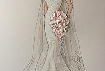 Bruidsjaponnen aquarellen