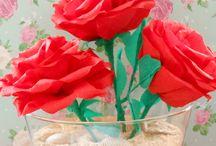 bloemen van crepepapier maken