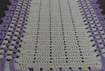 croché tapete com lilas