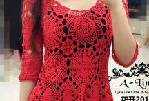 Blusa de crochê vermelha