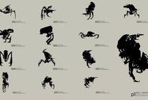 black silhouetes