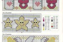 patrones infantiles punto de cruz