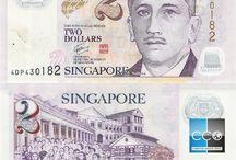 Billets Singapour / Les billets de banque Singapour en circulation sont : 2, 5, 10, 50, 100, et 1000 Dollars de Singapour. La série actuelle (série 4, depuis 1999 à ce jour) est caractérisée par le portrait de Yusuf Ishak sur le côté face de chaque billet. Depuis le 4 mai 2004, les autorités monétaires de Singapour ont émis des billets en polypropylène de 2, 5 et 10 dollars, toujours dans la même série.