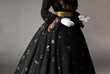 ✢1850s to 1880s Fashion / Fashion from the 1850s to the 1880s. Crinolines to bustles.