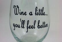 Cricut Wine Glasses