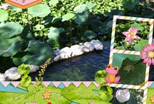 Frog Lake Digital Scrapbooking Designs by Kathryn Estry / Not only is this a super cute frog collection, you can scrap any fun summer photos with it and use the word art to show you can stand out in a crowd.