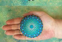 Malování na kameny, mušle - Mandala stones, painting seashell