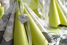 Pour plier ma serviette / Parce que chaque occasion a son pliage, Isambourg crée pour vous des pliages originaux !!