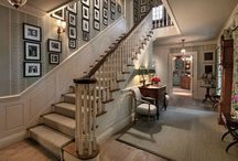 Staircases / Beautiful entry halls and staircases / by Hooked on Houses
