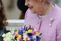 Queen Elizabeth is not afraid of color.  / by Anita Andreuccetti