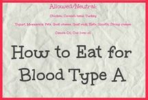 Foods for blood type A