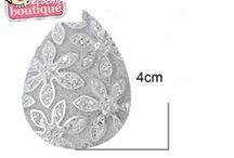 joli cabochon argente brillant forme goutte,creation bijoux,loisirs creatifs