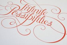 Type & Words / Hand-lettering and other typographic beauties