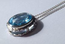 a blue topaz pendant