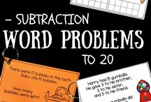 Subtraction word problems.