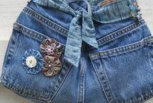 Cool bags (Yr 9 Textiles) / DIY jean bags.