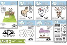 2015 Pop it Ups Summer Release / Projects using dies and clear stamps from the Farm 2 and Merry & Bright Pop it Ups Collections by Karen Burniston for Elizabeth Craft Designs. New collections ship to stores the first week of August, 2015.
