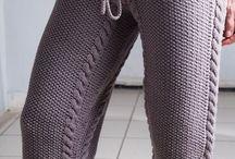 Вязание брюк