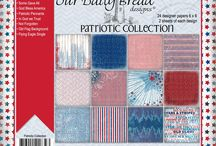 ODBD Patriotic Paper Collection / https://www.ourdailybreaddesigns.com/index.php/patriotic-collection-6x6-paper-pad.html